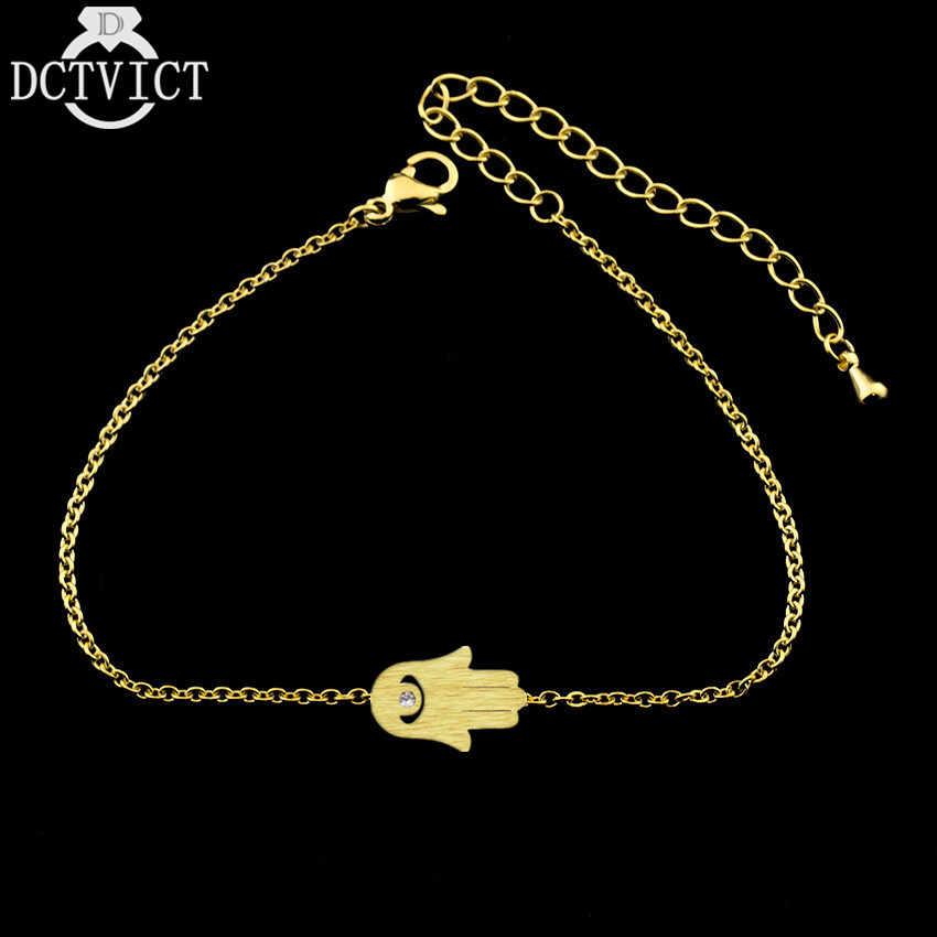 DCTVICT main de Fatima bracelets pour femme turquie Protection Bff bijoux bonne chance breloque Hamsa mauvais oeil Talisman Bracelet