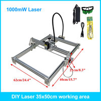 1000mw Mini Laser Engraving Machine 35 50cm Carving Machine Laser Wood Plastic Bottle Cutter