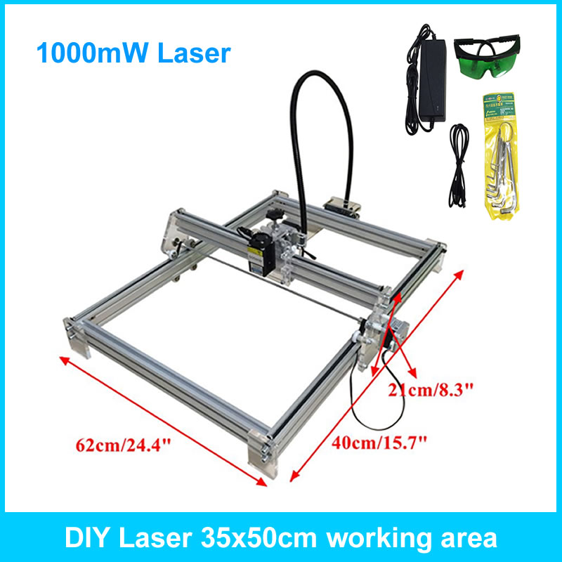 1000mw mini laser engraving machine 35*50cm carving machine laser wood plastic bottle cutter цены