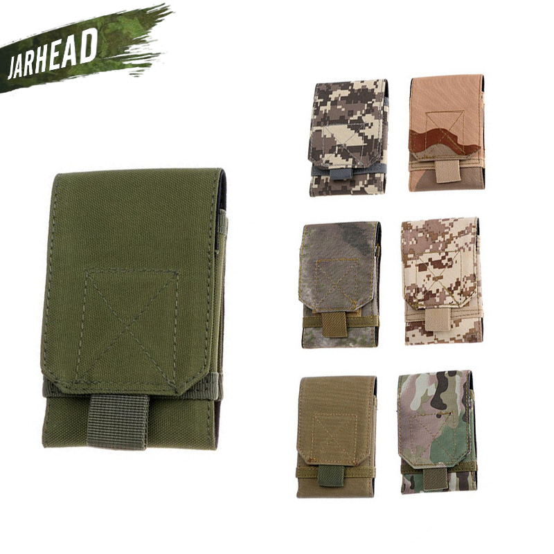 Outdoor Tactical Military Style Cell font b Phone b font Pouch MOLLE Pockets Accessories Travel Portable