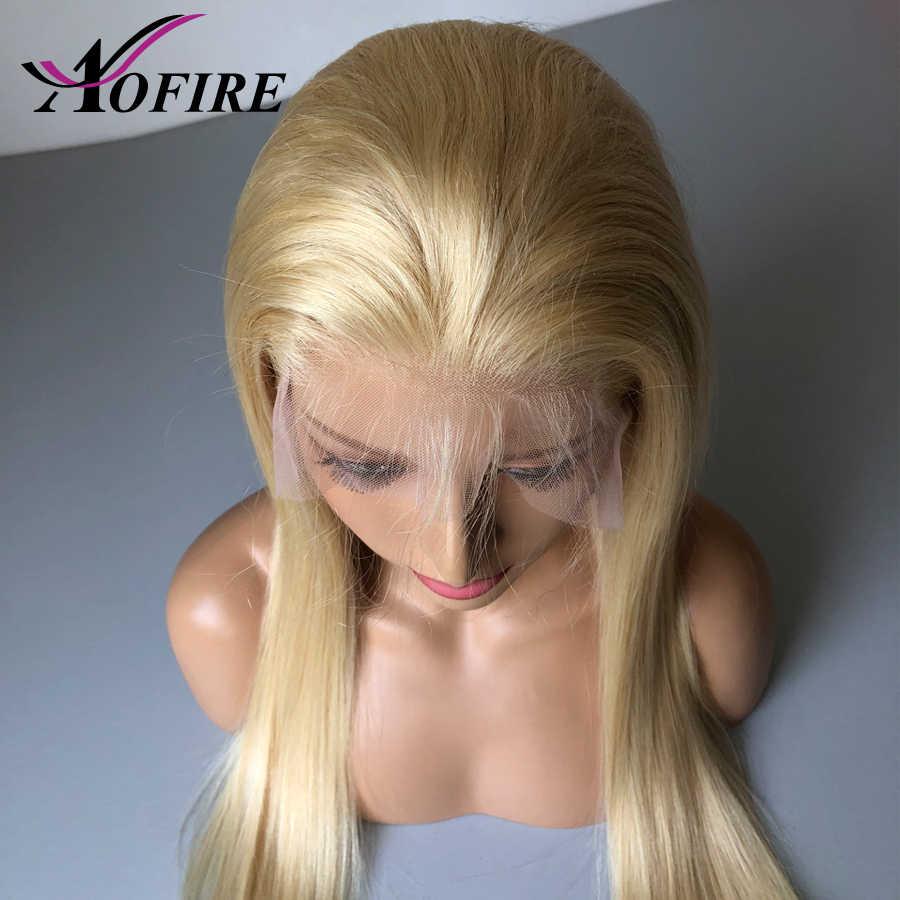 Синтетические волосы на кружеве человеческие волосы парик блондинка 613 Предварительно Связанные в пучки, индийские натуральные человеческие волосы парик с детскими волосами отбеленные предварительно выщипанные волосы бесплатная часть