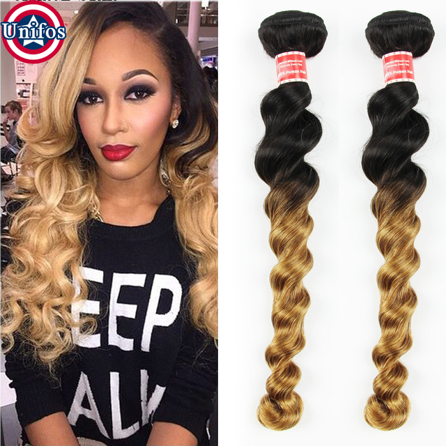 Blonde ombre brazilian virgin hair loose wave two tone brazilian blonde ombre brazilian virgin hair loose wave two tone brazilian human hair extensions 2pc ombre brown pmusecretfo Image collections