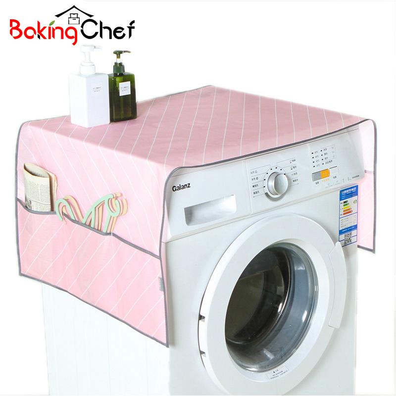 BAKINGCHEF Household Waterproof Refrigerator Dust Cover With Storage Bag For Kitchen Washing Machine Accessories Supplies