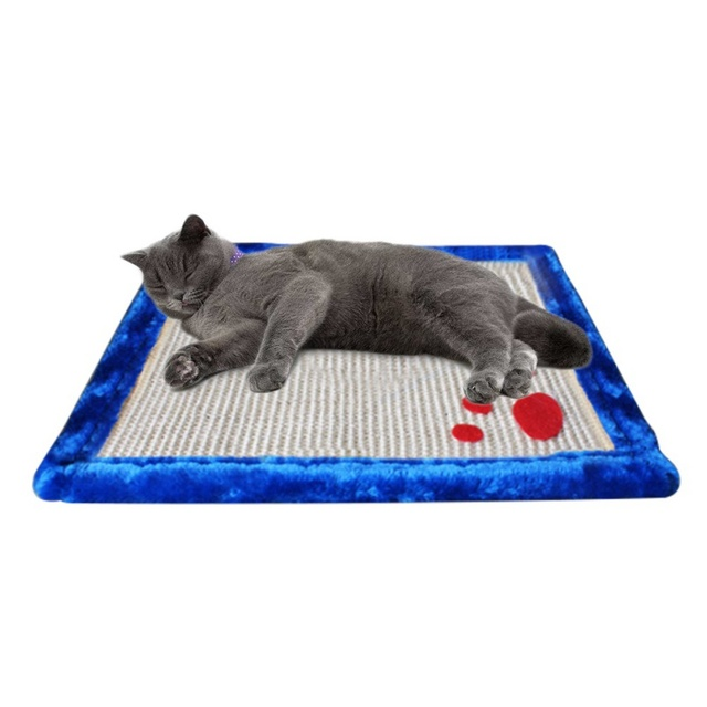 Cat Scratching Mat Cute Pets Dog Scratch Mats Sisal Scratcher Board Post