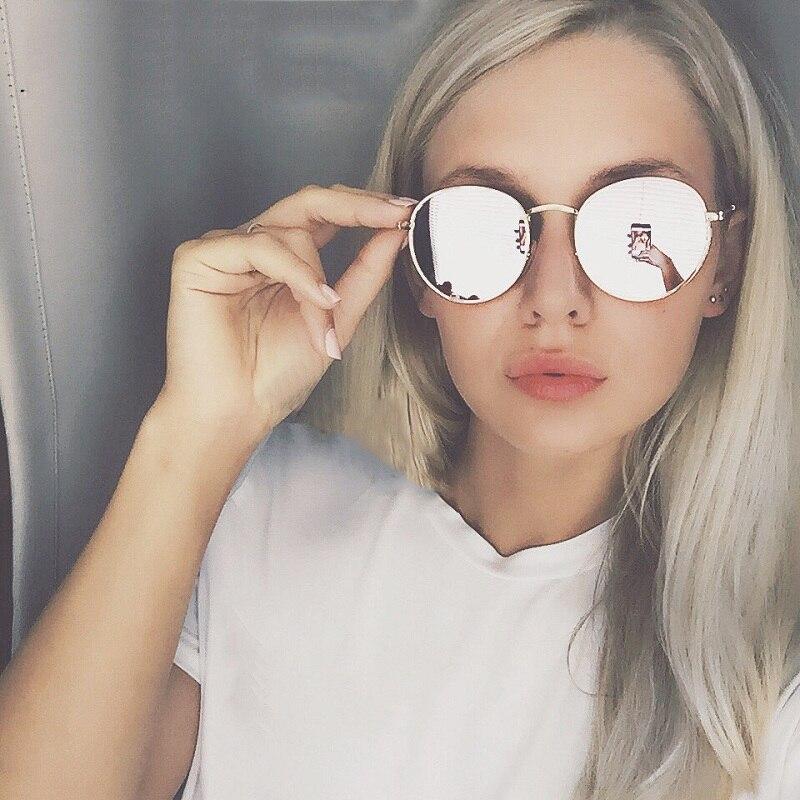 Круглые металлические Солнцезащитные очки для женщин стимпанк Для мужчин Для женщин Мода Очки Брендовая дизайнерская обувь ретро Винтаж Защита от солнца Очки UV400 металла Рамки глаз Очки