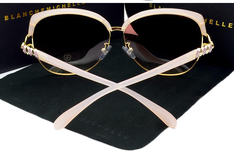 HTB18l6.jiAKL1JjSZFoq6ygCFXaJ - Blanche Michelle 2018 High Quality Square Polarized Sunglasses Women Brand Designer UV400 Sun Glasses Gradient Sunglass With Box