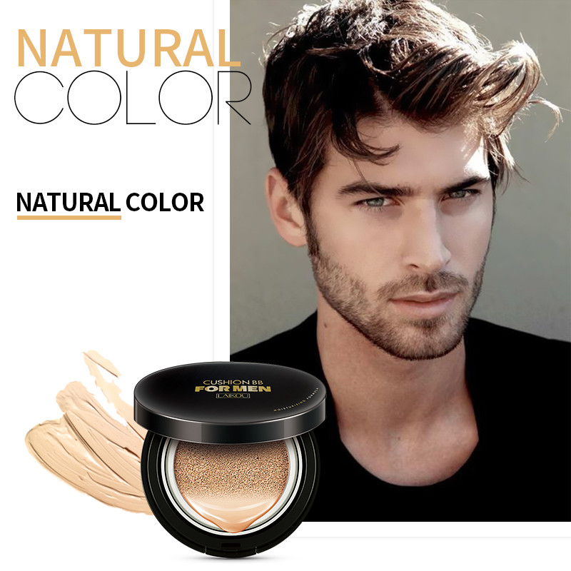 Men Sunscreen Air Cushion BB Cream Concealer Moisturizing Foundation Whitening Flawless Makeup Bare For Face Beauty Makeup