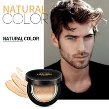 Men Sunscreen Air Cushion BB Cream Concealer Moisturizing Fo