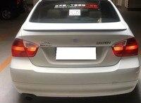 For BMW E90 Spoiler 318i 320i 325i ABS material Car Rear trunk Wing Spoiler For BMW E90 M3 style White Black Spoiler 2005 2011