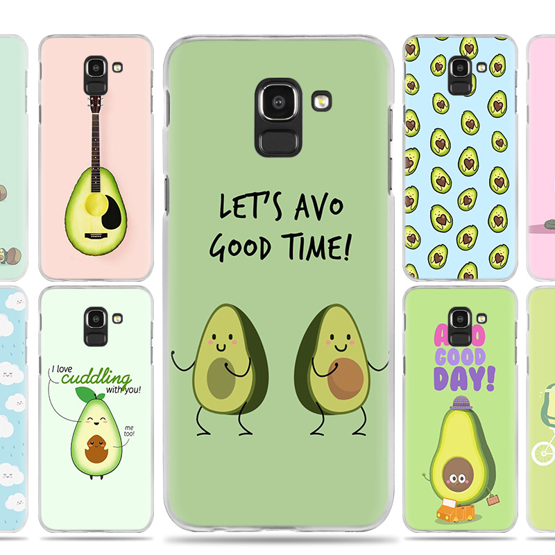 Cute Avocado Food Pattern Case Cover for Samsung Galaxy J7 J5 J8 J6 J4 J3 J2 Plus Prime 2017 2018 2016 J8+ J6+ J4+ Hard PC Coque-in Half-wrapped Cases from Cellphones & Telecommunications
