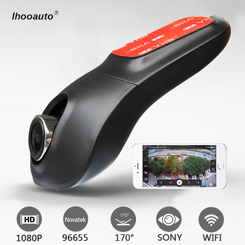 Ihooauto Car DVR Camera Video Recorder Universal DVRs Dashcam Novatek 96655 SONY323 Wireless WiFi APP Full HD 1080p Dash Cam plusobd for benz e w212 2008 12 surveillance camera oem novatek 96655 car camera video recorder fhd hd dashcam best camera
