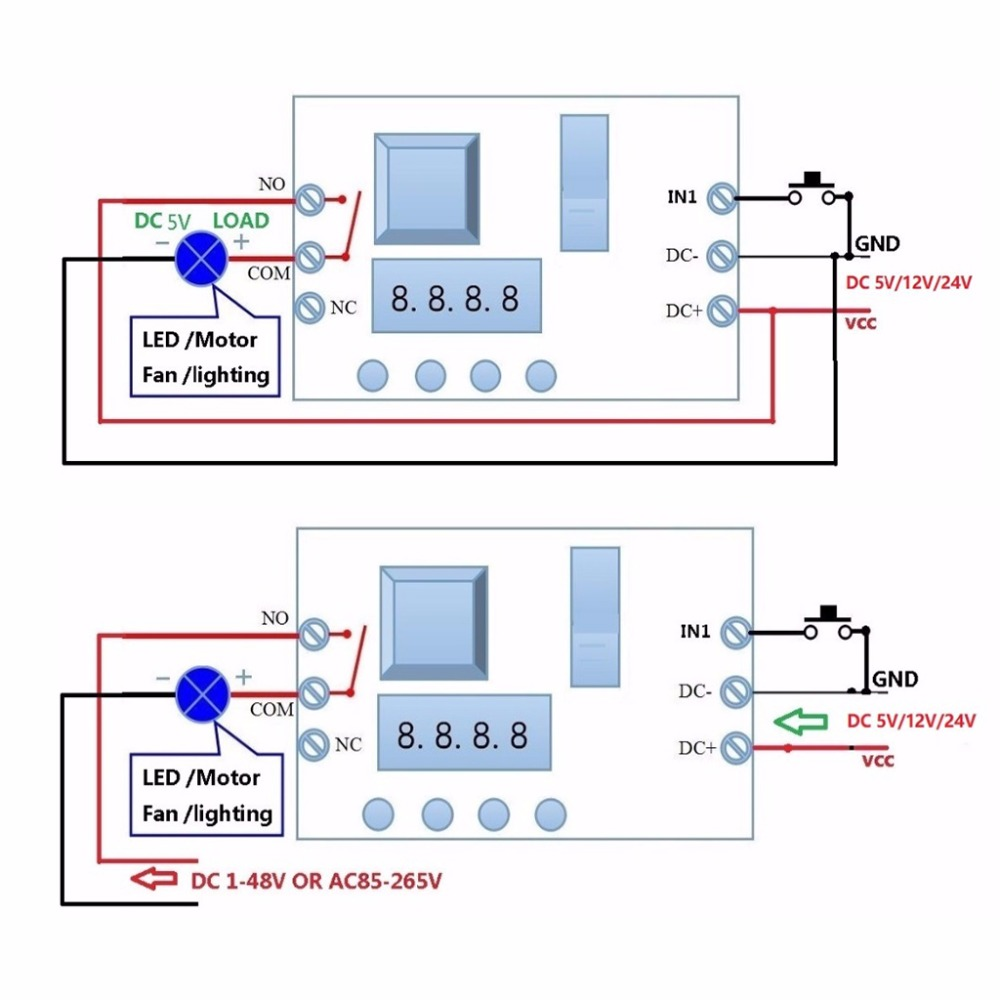 Dc 5 12 24v Multifunction Delay Relay Timer Switch Turn On Off Parts List For The Proposed Circuit Idea Plc Module In Relays From Home Improvement Alibaba Group