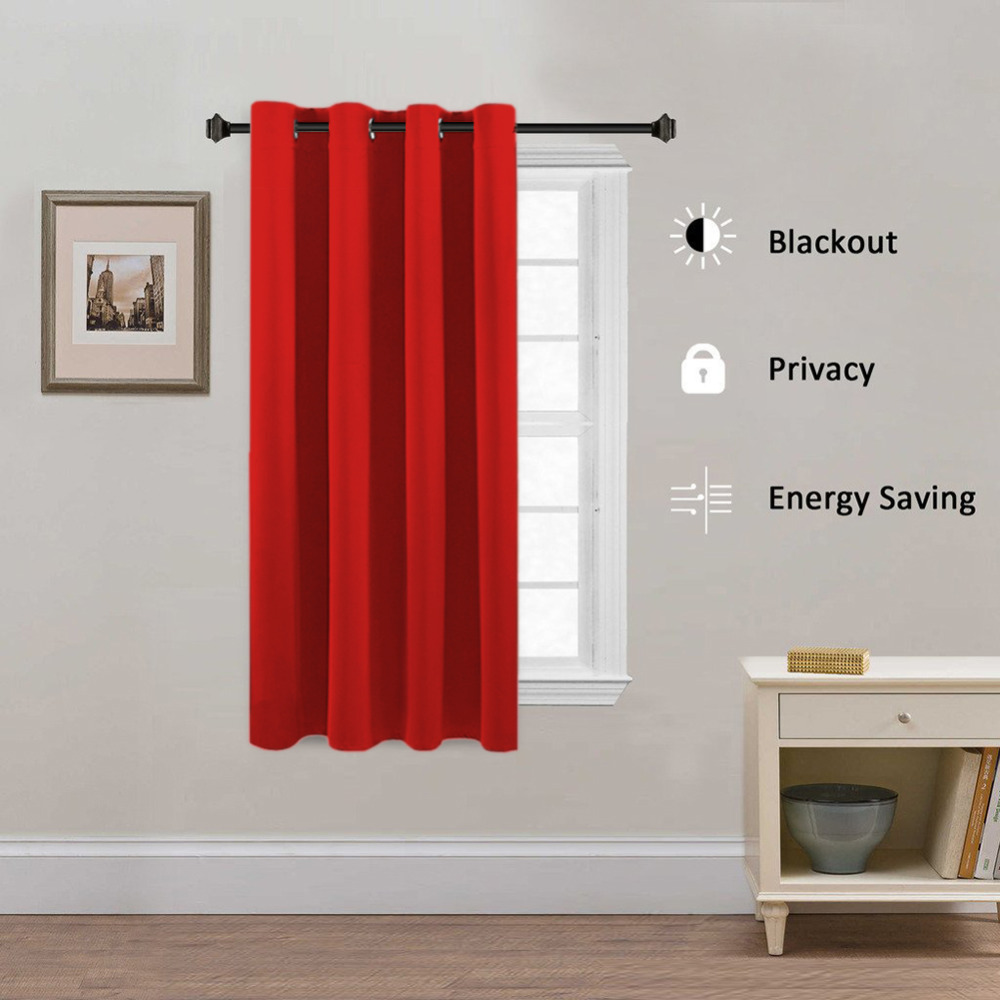Red Black Solid Window Curtains For Living Room Bedroom Modern Simple Semi Blackout Curtain Hotel Cortinas Drapery Wp092 30 In From Home