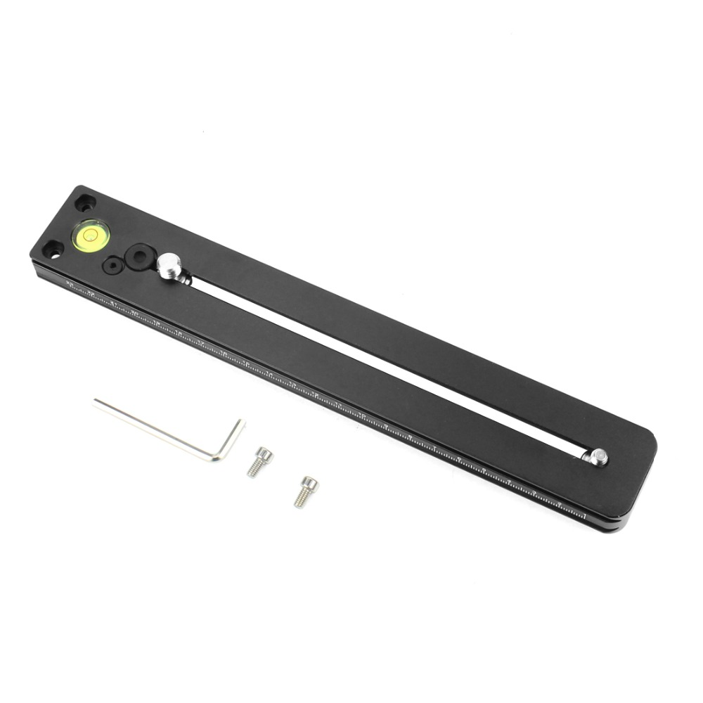 Aluminum Alloy Lengthened Quick Release Plate 250mm Nodal Slide Rail With 1/4