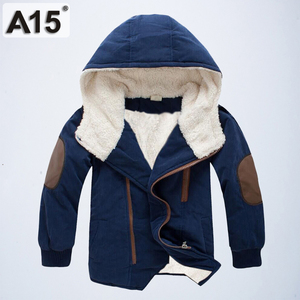 Image 1 - Kids Winter Jackets and Coats Fall Jacket for Boys Parkas Warm Hooded Velvet Cotton Coats Children Clothing Age 4 6 8 10 12 Year