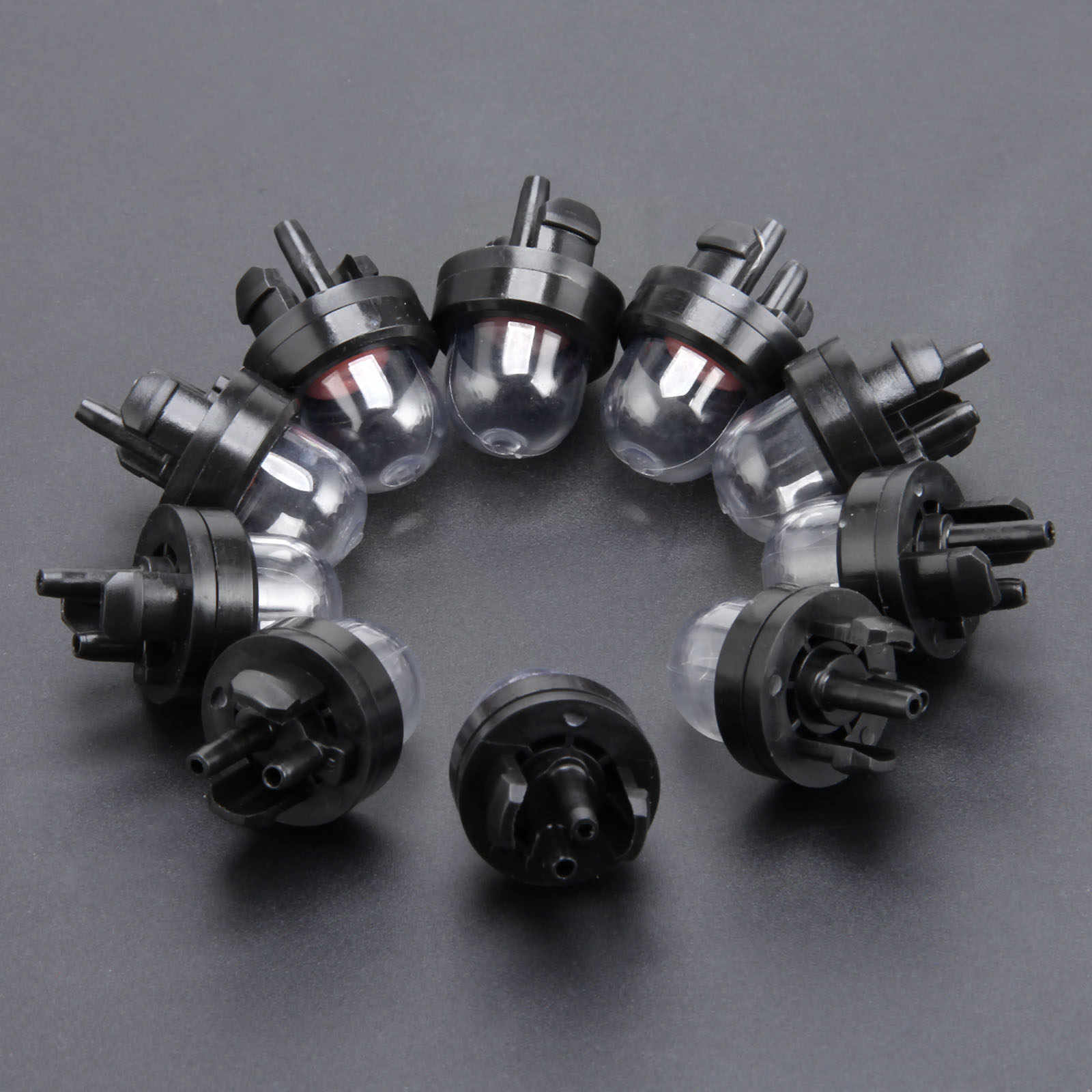10 ชิ้นคาร์บูเรเตอร์สแน็ปใน Primer Bulb ปั๊มริมขอบสำหรับ STHIL Homeliter Ryobi Poulan พอดี 45cc 52cc 5200 5800 ลูกโซ่