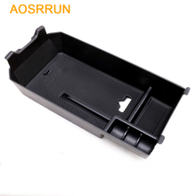 AOSRRUN ABS Central Armrest Storage Box Car Accessories For Mercedes Benz C Class Sedan W205 C200
