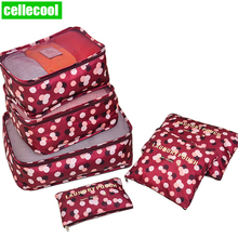 6/ PCS High Quality Travel Storage Bag Clothes Tidy Organizer Suitcase Pouch Case Shoes Packing Cube luggage bag