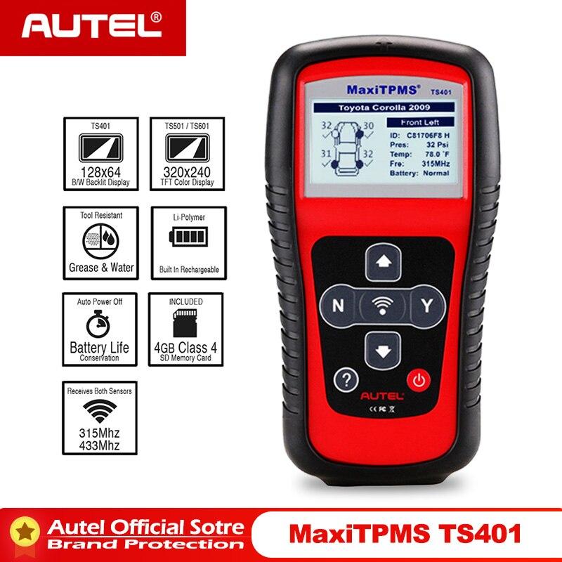 Autel MaxiTPMS TS401 инструмент мониторинга состояния шин OBD2 сканер активировать сканирование TPMS сенсор копия OE ID датчик Mx Программирование autel TPMS mx сенсор