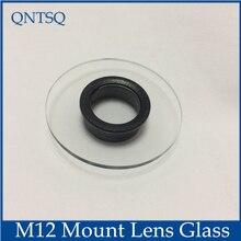 كاميرا تلفزيونات الدوائر المغلقة الإسكان الزجاج M12 عدسة جبل ، الحلقة الداخلية فارغة الحجم: Dia16mm 18mm