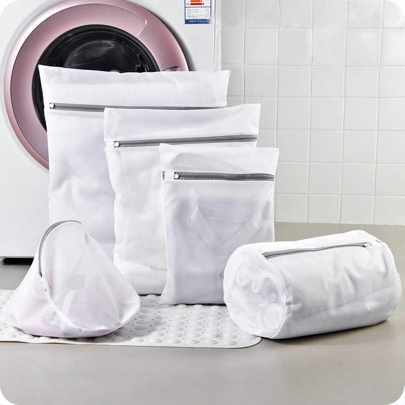 Sacos de lavandaria bra longo-manga roupa interior Cuecas meias lavagem sacos de Proteção zipper dobrável saco de roupa set roupas organizador