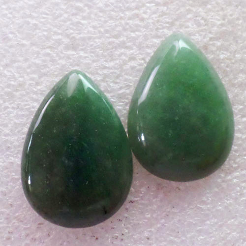 (2 pieces/lot) Wholesale Natural Green Aventurine Teardrop CAB Cabochon 30x22x6mm Free Shipping Fashion Jewelry C0000843