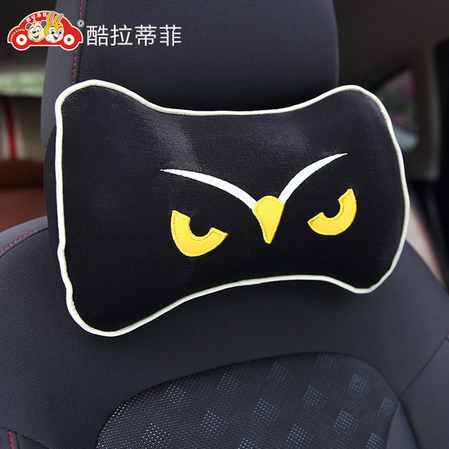 1 pcs memory cotton pillow car headrest support four vehicle slow decompression cervical pillow cushion