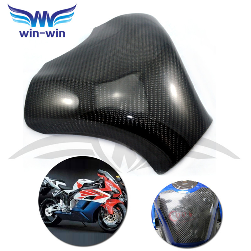 ФОТО black color motorcycle accessories caron fiber fuel gas tank protector pad shield rear carbon fiber for KAWASAKI ZX 6R 636 07-08