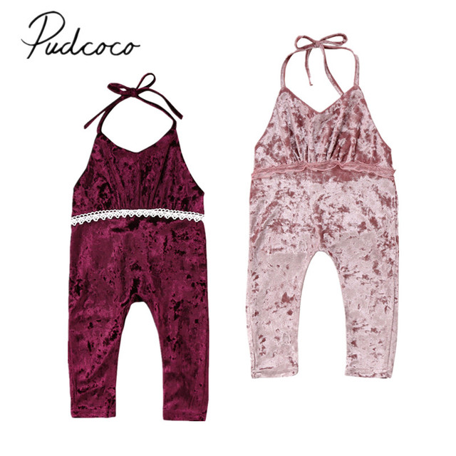 47be4a33d 2018 Brand New Toddler Infant Child Kid Baby Girl Velvet Lace Romper ...