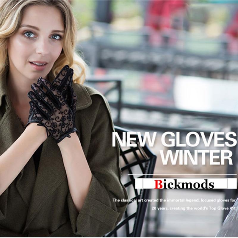 Жіночі рукавички з овчини з - Аксесуари для одягу - фото 4