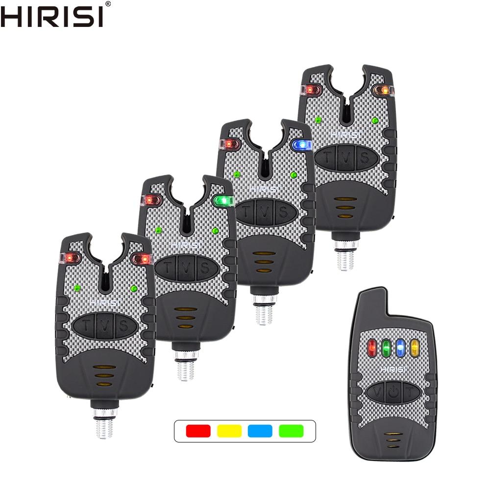Wireless Fishing Bite Alarm Set 4+1 Fishing Bait Alarms Indicator For Carp Coarse Fishing B1207B
