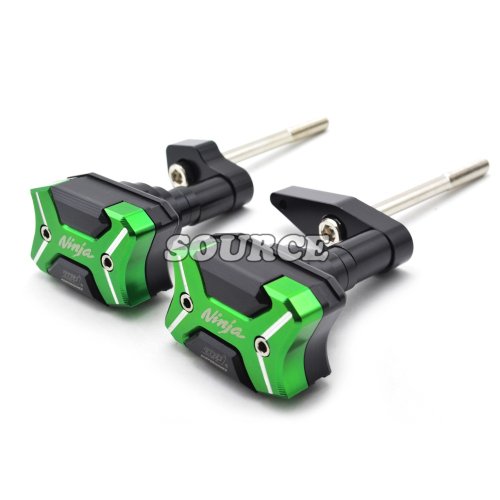 Motorcycle Frame Crash Pads Engine Case Sliders Protector Green Frame Slider For Kawasaki ER-6N ER6N 2012 2013 2014 2015 2016