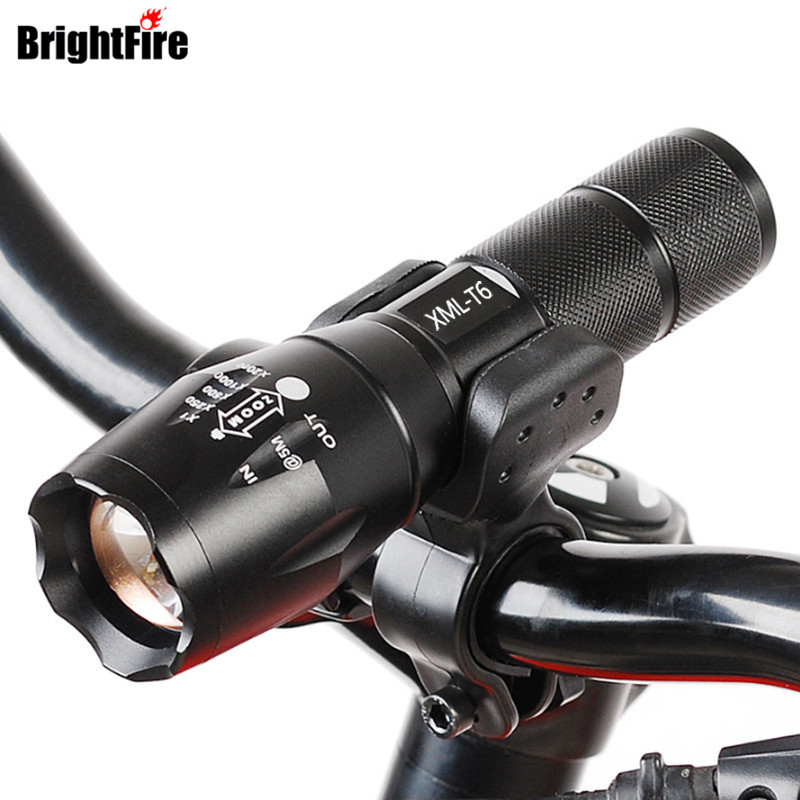 Professional XM-L T6 3800LM Bicycle Light Torch Waterproof Zoomable LED Flashlight Bike Light With Torch Holder zk35 cree xm l 3800 lm q5 led flashlight torch zoomable light black led bicycle light with battery and charger holder