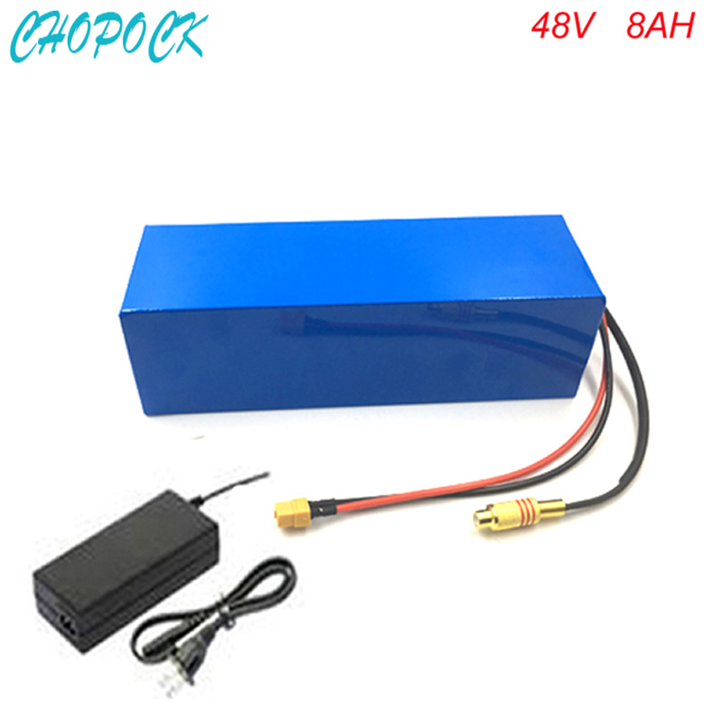 Rechargeable lithium battery 48v 8ah Electric Bike 750W Battery 48V 8Ah li-ion battery pack with BMS and charger fit 48v bafang 48v 15ah lithium ion li ion rechargeable chargeable battery 5c inr 18650 for electric bicycles 100km 48v power supply