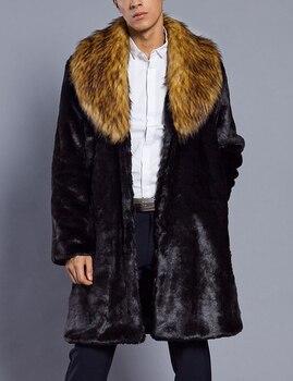 Abrigo de cuello de piel de zorro para Hombre, abrigos de piel...