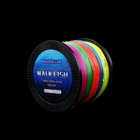 WALK FISH 8 Strands Braided Fishing line 1000m Super Strong Japan Multifilament PE Braid Line 13 242LB 9 Color Available