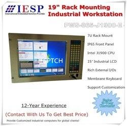7U do montażu w stojaku komputer przemysłowy  15 cal LCD  J1900 procesora  4GB pamięci RAM  500 dysk twardy o pojemności  4 * COM  6 * USB  montowana w stojaku komputera