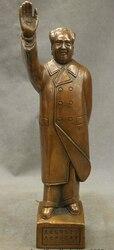 """Xiuli 002679 7 """"Chiński Brązu Miedzi Wielki Lider Założyciel MaoZedong Przewodniczący Stojak Rzeźby w Posągi i rzeźby od Dom i ogród na"""