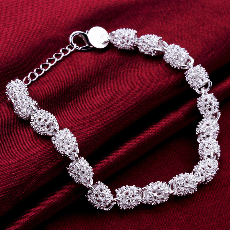 New Silver color Jewelry Hollow Out Bead Bracelet 2