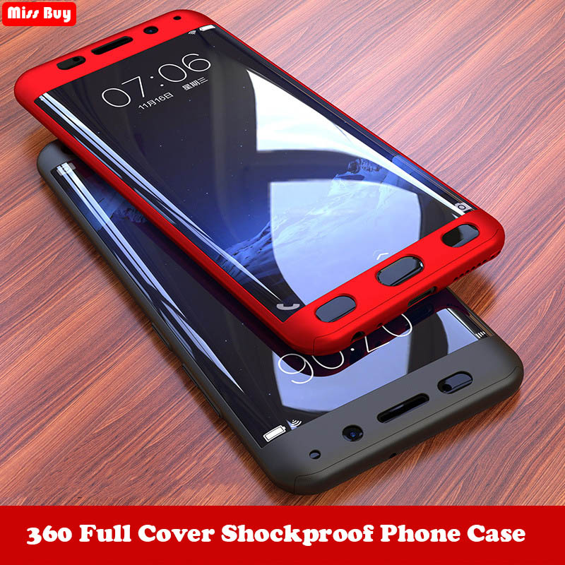 save off 268c9 afbe1 360 Degree Full Cover Phone Cases For Samsung galaxy A9 A7 2018 A750 C7 C9  pro J2 Core J4 J6 Plus S10 Lite A8S Case + Glass