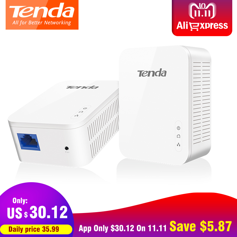 Tenda PH3 AV1000 Gigabit Powerline Adapter AV1000 Ethernet PLC Adapter KIT IPTV Homeplug AV2 Gigabit Network Adapters Extender адаптер powerline tenda ph10 набор powerline адаптер av1000 extender ac650