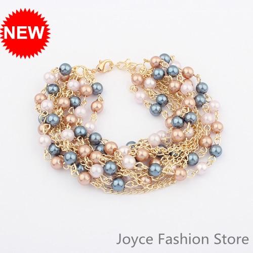 Min Order $10,HOT!CoolBracelet Fashion 2013 Jewelry,Lovely Multilayer Pearls Bracelet,Vintage Retro Bracelets For Women,B62