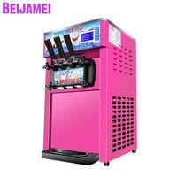 Beijamei fábrica tri-color macio sorvete que faz a máquina comercial elétrica máquina de sorvete mix com 3 sabores