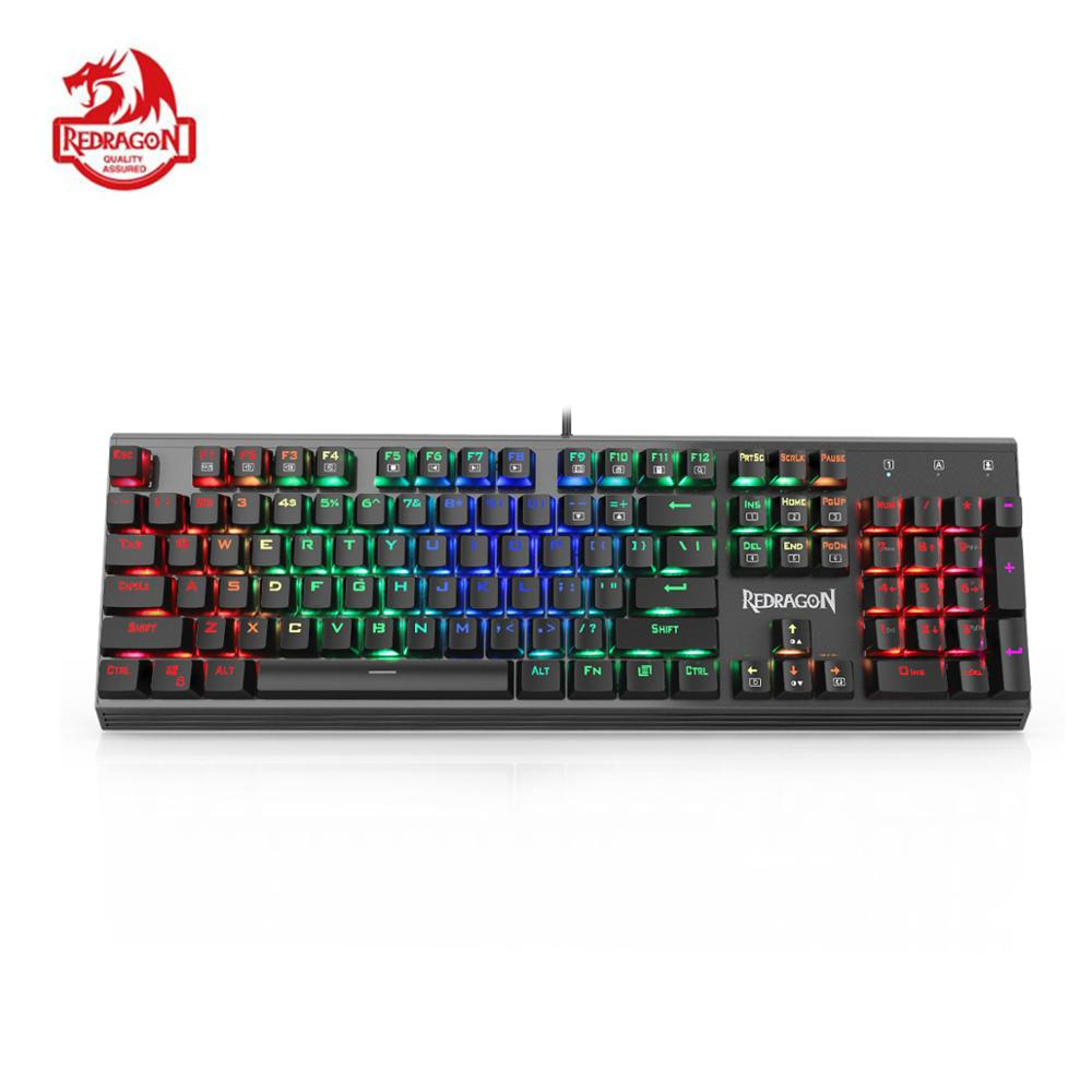 B Mechanical Gaming Keyboard,104 Keys Small Compact Keyboard,USB Wired Keyboard with Optical axis Anti-Ghosting,for Windows PC Game