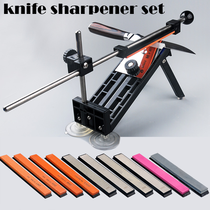 1 Set New fixed angle knife sharpener professional sharpening tool set meal grindstone diamond grinding board available bar(China)