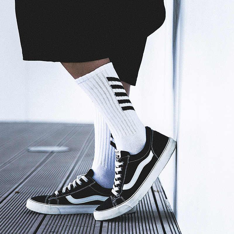 Aelfric Eden Mannen Lange Sokken Katoen Casual Gestreepte Brief Crew Harajuku Comfortabele Sokken Skateboard Sox Unisex Gelukkig Sok Ae022