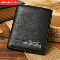 Harrms brand 2017 Men wallets split leather purse short casual male card holder carteira brand wallet