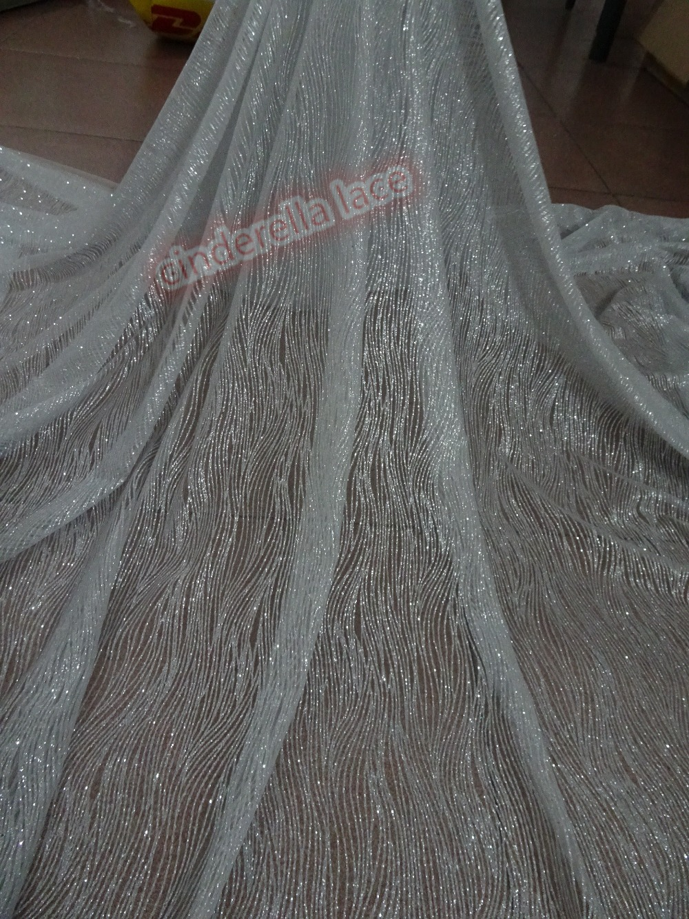 High quality African glitter net lace fabric hot selling JIANXI C 42079 french net material 5y