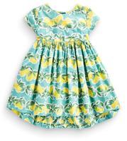 Meisje zomer 2017 vintage jurk audrey hephurn retro kleine lemon katoen tank jurk met groene bladeren