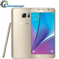 Desbloqueado Original Samsung Galaxy Note 5 N920A note5 4 GB de RAM 32 GB ROM 16MP 5.7 polegadas Octa Núcleo 2560x1440 4G LTE Móvel telefone